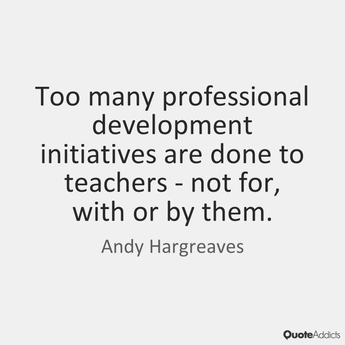 Differentiating professional learning